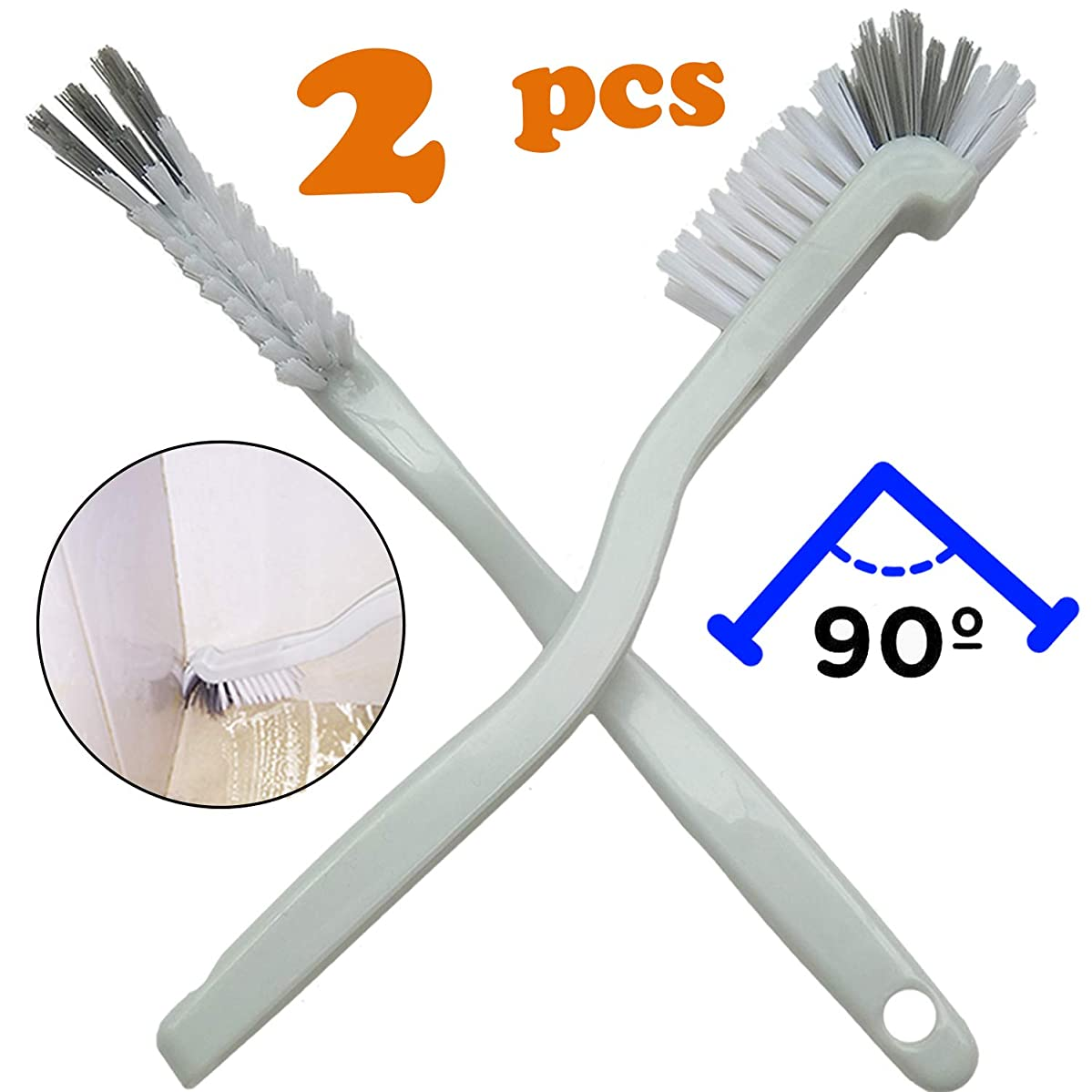 AncBace Dish Brush Kitchen Cleaning Brush Bottle Bathroom Scrub Brushes Sink household Pot Pan Edge Corners Tile Lines Brush with Stiff Bristles