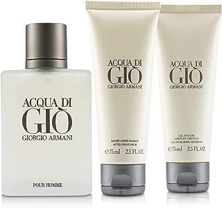 Giorgio Armani Acqua Di Gio Coffret: Eau De Toilette Spray 100ml + All Over Bod Shampoo 75ml + After Shave Balm 75ml 3pcs