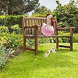 Gartendeko Harz Huhn Deko, Chicken Yard Art Gartenstecker, Outdoor Tierfigur Gartendeko Hinterhof Rasen Pfähle Gartenstecker Handarbeit Ornament Gartenstatue Dekorative (Rosa)