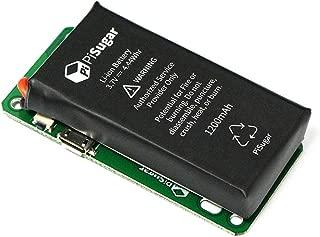 Pisugar Portable 900 mAh /1200 mAh Lithium Battery Power Module for Raspberry Pi-Zero, Pi-Zero W/WH Model Accessories (Not Include Raspberry Pi) (900 mAh)