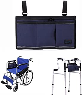 Walker Bag Wheelchair Electric Scooter Bag Travel Carry Bag Pouch Armrest Side Organizer Mesh Storage Cover - Fits Most Be...