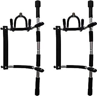 Paquete de 2 barras de almacenamiento para barra de dominadas, barra de ejercicio, fuerza y fitness, soporte para equipo –...
