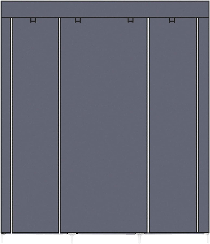 Penderie Pliable en Tissu Non-tiss/é Organisateur de Rangement de v/êtements Pliable avec Rail Suspendu Sebastianee Armoire de Rangement Portables 4 /étag/ères//Noir
