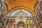 SHILIHOME Estación Central de Tren de Amberes Bélgica Pintura por números DIY Único
