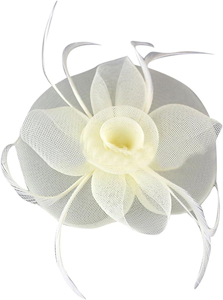 JoyVany Women Fascinator Hat with Headband Tea Party Derby Wedding Hair Clip Hat