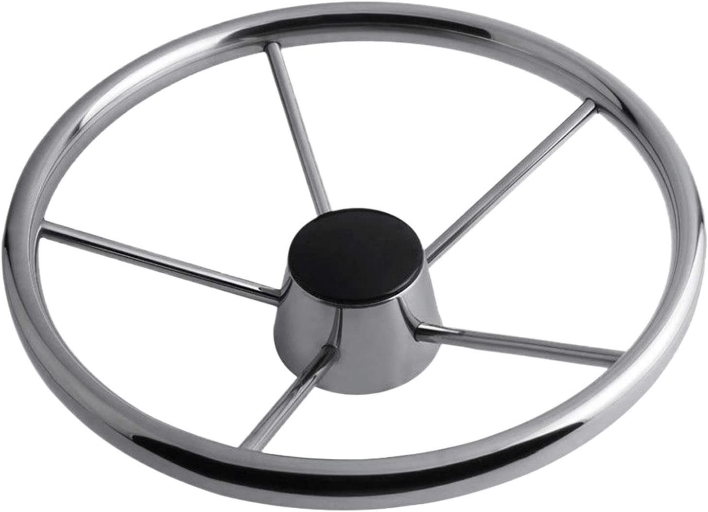 Boat Accessories 1pcs 343mm Steering Bombing free shipping Inexpensive Steel Stainless Wheel