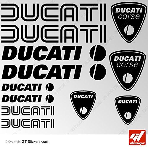 Sticker Ducati–Schwarz–Brett-12Sticker, selbstklebend, Aufkleber