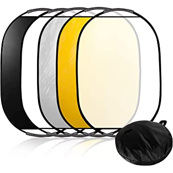 and Black Green White CowboyStudio 7-in-1 24 x 36 Inch Photography Photo Oval Collapsible Disc Reflector with Translucent Blue Gold Silver