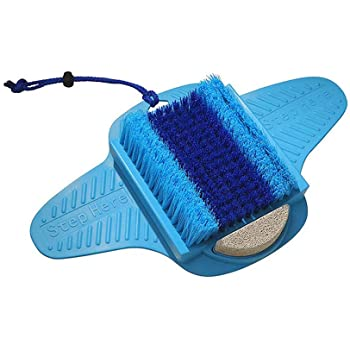 Foot Scrubber, Shower Foot Brush Cleaner, Bristles Deep Clean Exfoliates & Massages Foot Spa With Pumice Stone