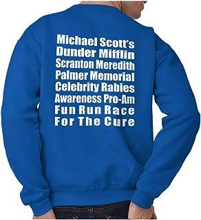 Brisco Brands Dunder Run Race Cure Funny Scranton TV Comedy Crewneck Sweatshirt