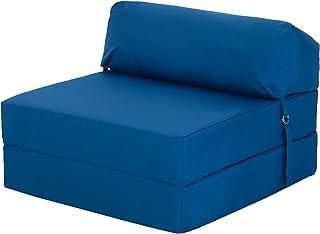 Bekvämt skum av högsta kvalitet viks ut Z säng i stol blå. Mjuk, bekväm och lätt med ett avtagbart vattentätt skydd. Finns...