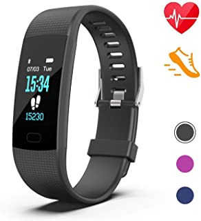 Fitness Tracker, Activity Tracker Watch with HR Monitor, Fitness Tracker Sleep Monitor Pedometer Watch Step Counter Calorie Counter Watch Compatible with Android/iPhone for Kids Women and Men