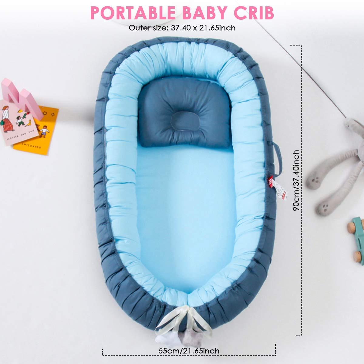 Travel Newborn Bed Super Soft Detachable Infant Co-Sleeping Bed ...