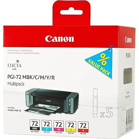 Canon Tintenpatrone Pgi 72 Pbk Gy Pm Pc Co Multipack 14 Ml Original Für Tintenstrahldrucker Bürobedarf Schreibwaren