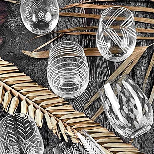 Fade Bicchieri concerto fd55465 in vetro soffiato e molato 6 pezzi ml 500