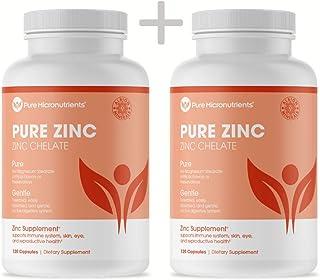 Pure Micronutrients Zinc Supplement, Natural Zinc Glycinate Supplements, (Chelated) 25mg, 240 caps - Best Buy Value 2-Pack
