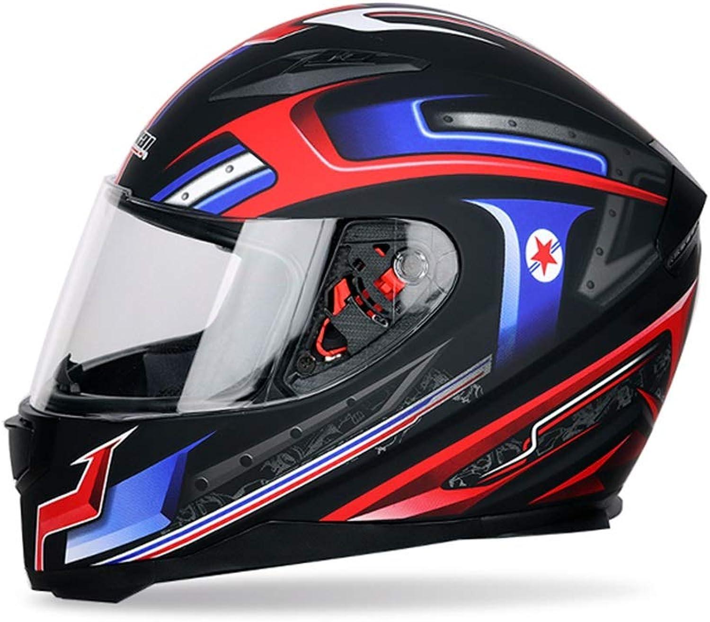 Songlin@yuan Motorcycle Helmet Open Face Helmet Double Lens Men and Women Electric Car Four Seasons Helmet Purple blueee Red Green Predection