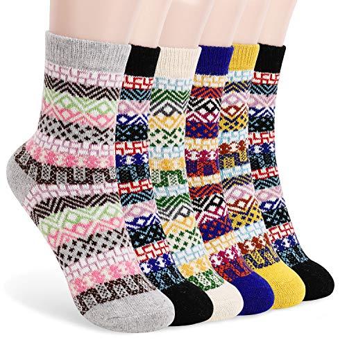 👠【MATERIALES DE ALTA CALIDAD】Los calcetines para mujer están hechos de lana, poliéster, nylon, cómodos, transpirables, ponibles, que absorben la humedad y eliminan los olores. Tejidos de lana suaves y cómodos en los pies, te acompañan en cada esquina...