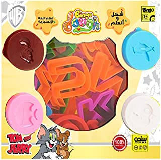 Bingo Tom and Jerry English Letters Play Dough Toy for Kids