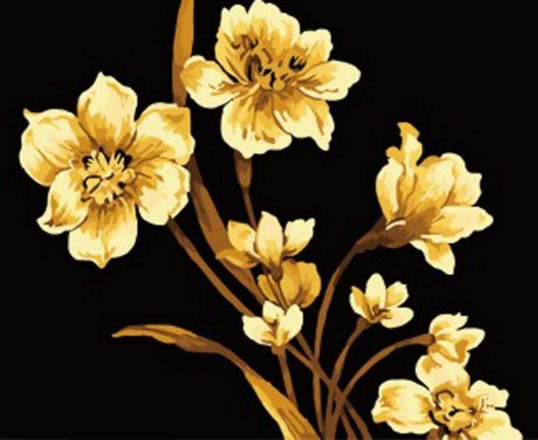 DIY Digital Painting Hand-Painted Botanical Flower Abstract Painting Hand-Painted Mural Painting Decorative Painting Frameless Christmas, 40x50cm