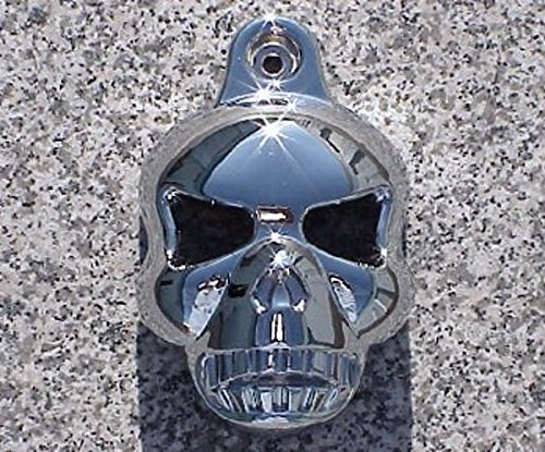 i5 CHROME SKULL HORN COVER for Harley Davidson Softail Dyna Electra Glide Road King…