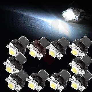 cciyu 10 pcs White B8.5D 1 SMD 5050 12V Car LED Instrument Indicator Light C5W Side Interior Lamp Bulb