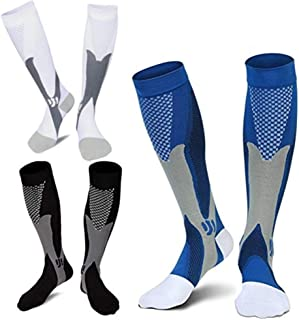 ZFiSt 3Pair Medical Sport Compression Socks Men,20-30mmhg Run Nurse Socks for Edema Diabetic Varicose Veins