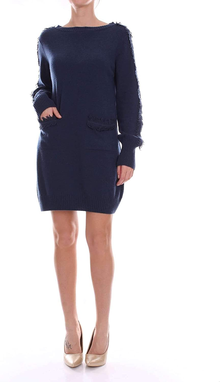 D.Exterior Women's 47220blueE bluee Wool Dress