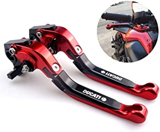 CNC Motorcycle Foldable Extendable Clutch Brake Lever For Ducati 848 EVO 2007 2008 2009 2010 2011 2012 2013