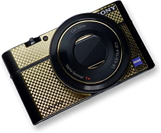GARIZ SONY DSC-RX100用 メタルステッカー MS-RX100CG カーボンゴールド