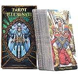 YMFZYM 78 Illuminati Kit Tarot, Universal Vintage Adivination Future Game Card Set, Destiny Prediction Card Set, Regalo para los Amantes de Las Cartas del Tarot