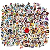 Naruto One Piece One Punch Man Stickers Cool Vinyl Removable Anime Theme Cartoon Decals 200 Pcs Pack Decor for Desktop Laptops Water Bottle Luggage Skateboard Bicycle Decoration (Anime Combination)