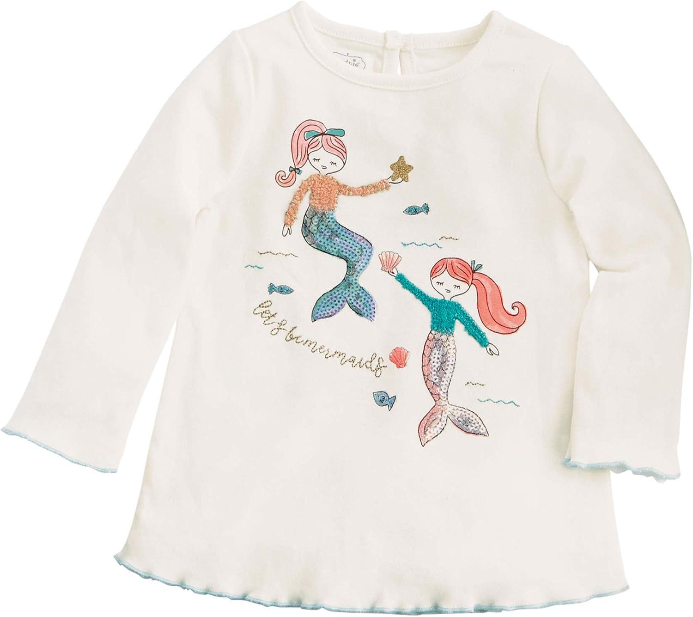 Mud Pie Kids Girls Winter Let's Be Mermaids White Tunic Top White