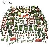 307 Soldati di Plastica del Giocattolo, Giocattoli dell'Esercito dei Soldati di Giocattolo La Plastica Verde Tradizionale per I Giochi di Guerra Militari dell'Esercito Gioca I Giocattoli