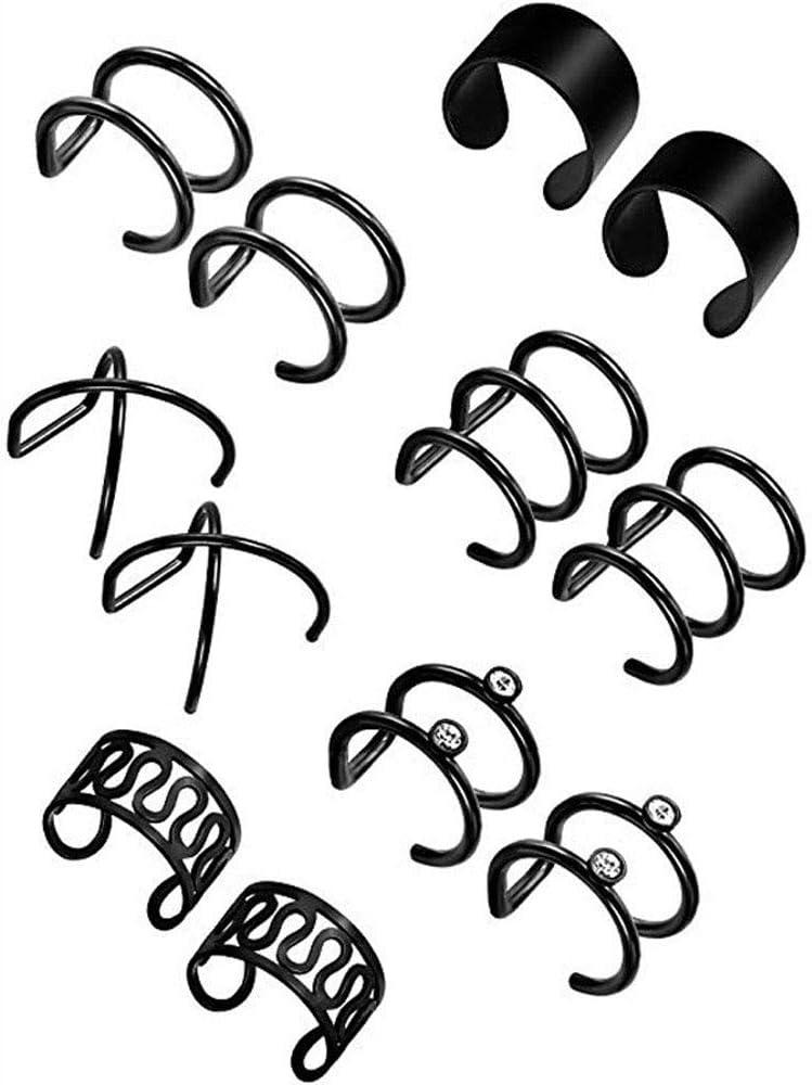 CHDHALTD Sales for sale 6 Pairs Non Piercing Ear Hoop Cartilage Earrings Cuffs Mail order cheap