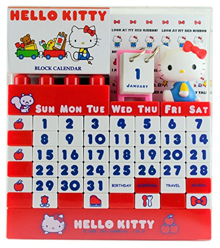 ハローキティ ブロックカレンダー レッド