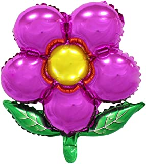 New Arrival Flowers Aluminum Foil Balloons Happy Birthday Wedding Decorations Ballons Baby Shower Market Activity Party Supplies Rose Red