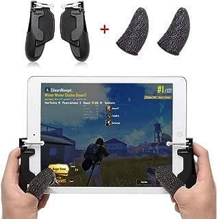 荒野行動 PUBG Mobile コントローラー ipad 引き金式高速射撃ボタン ゲームパット 押しボタンとグリップの一体式 人間工学設計 指サック付属 iPad &タブレット対応