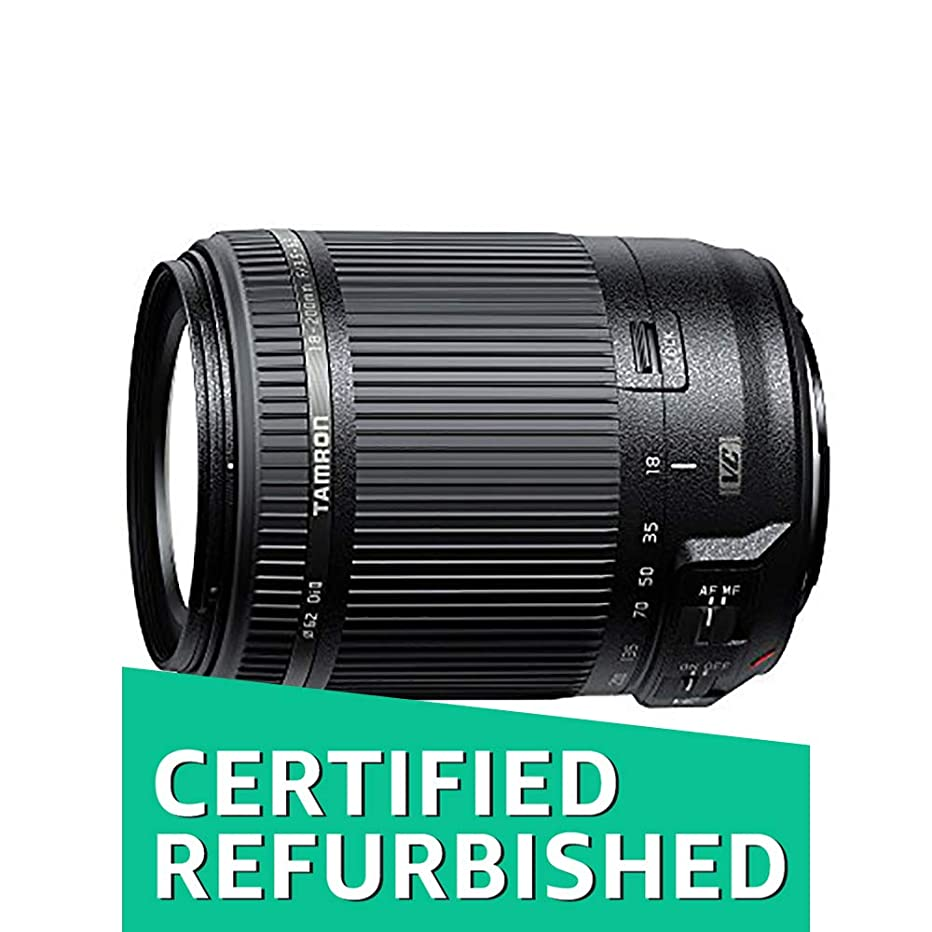 Tamron AF 18-200mm F/3.5-6.3 Di-II VC All-in-One Zoom for Canon APS-C Digital SLR (Renewed)