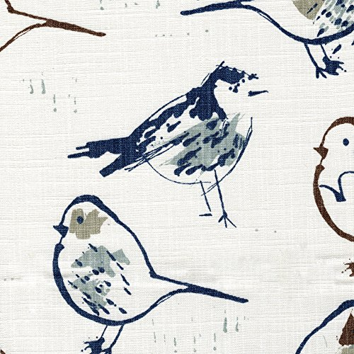 Great Features Of Close to Custom Linens 18 King Gathered Bedskirt Bird Toile Regal Blue Chinoiseri...