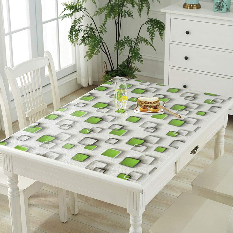 DangGL Transparente Tischdecke,PVC-wasserdichter Anti-Verbrühungs-Kunststoff-Weichglas-Tischset Teetisch Rechteckige Schutzhülle (Farbe     Grün, größe   60  120cm) B07M5XG86C 1d764f