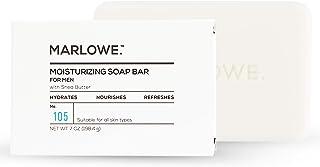 مارلو شماره 105 صابون مرطوب کننده بدن برای آقایان 7 اونس   ساخته شده با کره Shea و مواد طبیعی برای پاک کردن ملایم   غنی و کرمی چرمی   عطر عالی