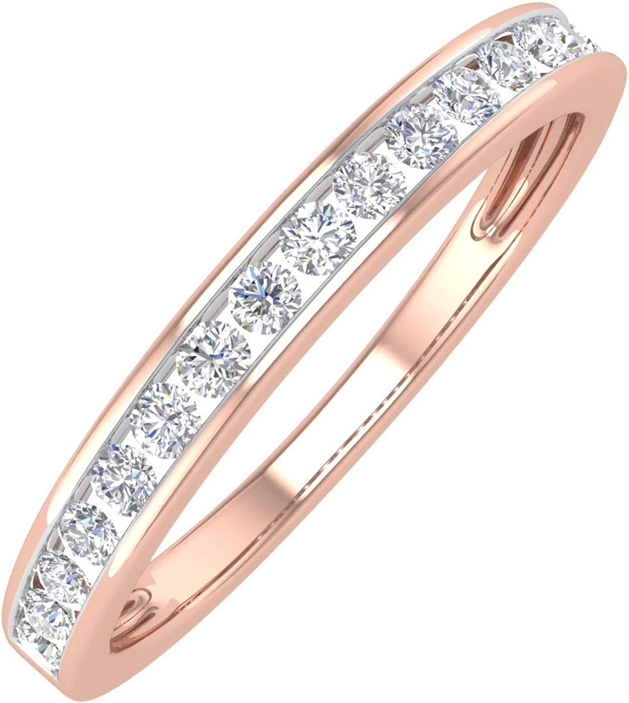 1 4 Carat Channel Set Diamond Anniversary Band Wedding in Daily bargain Some reservation sale Ladies