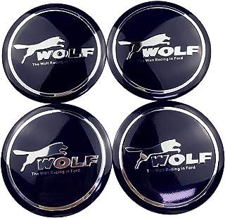 XCBW Coprimozzo Centrale per Ruote da 4 Pezzi 65mm Adesivi con Logo Emblema del Cappuccio Centrale della Ruota per Accessori F-ORD Mustang GT500
