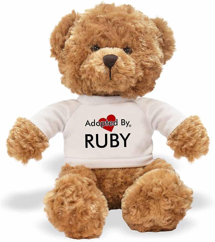 AdoptedBy Tb1Ruby Teddy orso Che Indossa Una t-Shirt Personalizzabile con Nome