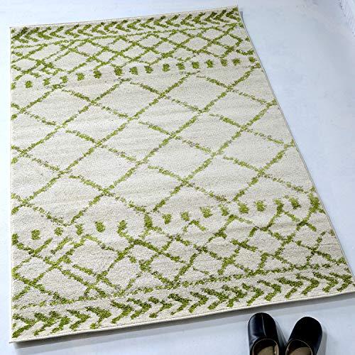 ラグマット ウィルトン織り カーペット ウィルトン織 ラグ 1.5畳 133x190cm ホワイト
