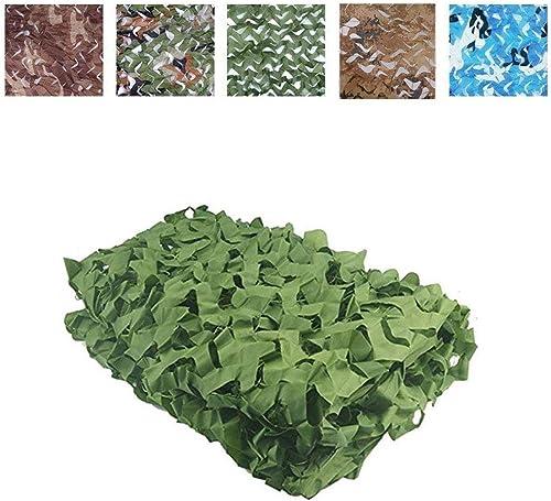 Camping Masque Filet de camouflage pour enfants (filet de camouflage vert), augmentez le filet de renforcement, adapté à la chasse militaire à l'ombre de l'armée Portée de tir en camping, cachez la te