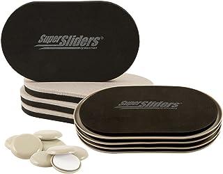 "SuperSliders 4713995N Reusable XL Heavy Furniture Sliders for All Surfaces with Bonus Self Adhesive Carpet Sliders, 9-1/2""..."