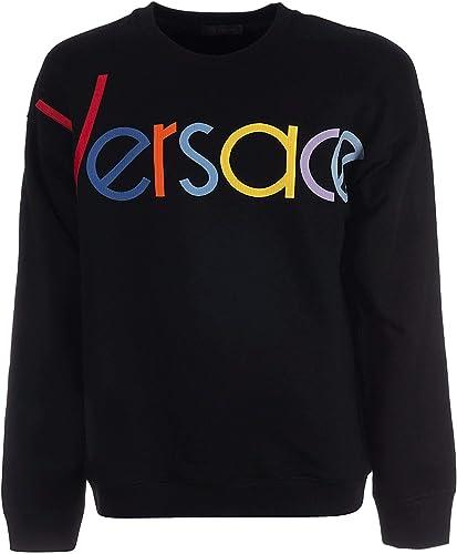 Versace Luxury mode Homme A81504A228554A008 Noir Sweatshirt   Printemps été 19