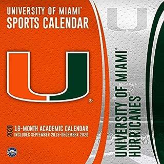 University of Miami Hurricanes 2020 Calendar
